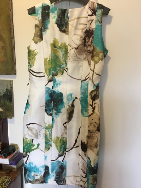 Per Se Never Worn Hand Painted Fabric Elegant Dress Image 4