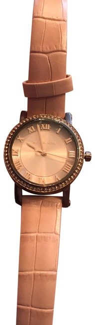 Item - Multi Color Mk2723 Womens Norie Sable Tone Embossed Leather Watch