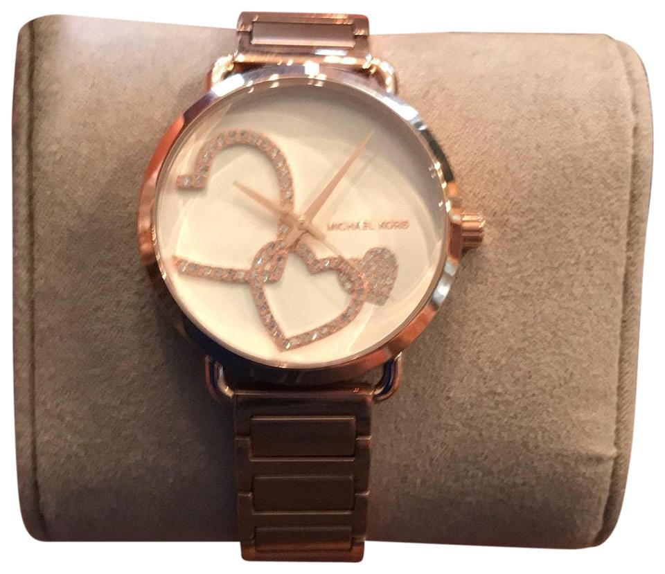 f0921249da9d Michael Kors New Michael Kors MK3825 Portia Rose Gold-Tone Bracelet Women s  Watch 36.5mm ...