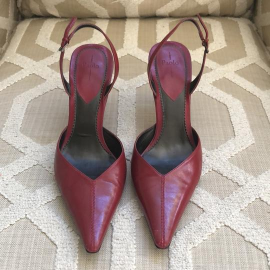 Paolo Dark Red Pumps Image 1