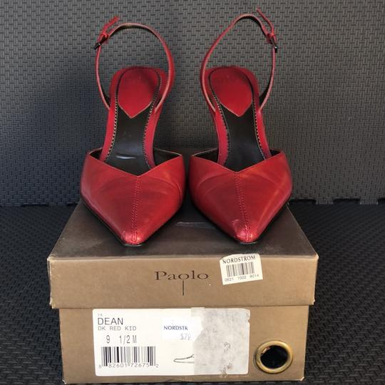 Paolo Dark Red Pumps Image 5