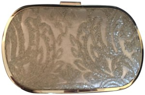 Lulu Townsend Pale gold Clutch
