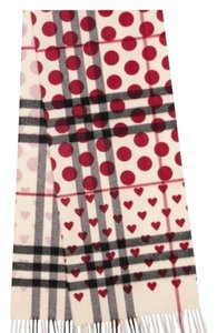 Burberry Classic Heart Check Cashmere Scarf