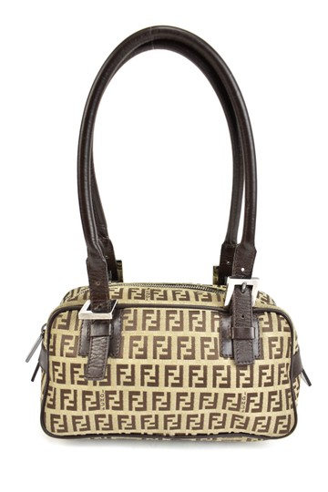 Fendi Leather Brown Ff Logo Tote Shoulder Bag Image 2