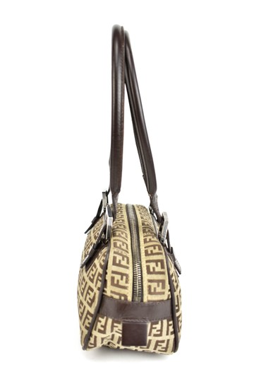 Fendi Leather Brown Ff Logo Tote Shoulder Bag Image 3