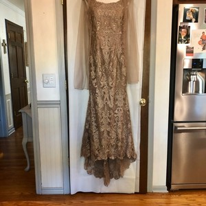 Montage by Mon Cheri Mink with Rose Gold Accents Lace and Tulle 116948 Formal Bridesmaid/Mob Dress Size 10 (M)