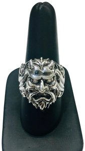 Stephen Webster NEVER WORN!! Stephen Webster Two Diamond Japanese Warrior Mask Ring Sterling Silver 23.8 grams Two Diamonds weighing 0.10 carat total weight Size 10.75 Can be sized!!! 100% Authentic Guaranteed!! Comes with Original Stephen Webster Pouch!!