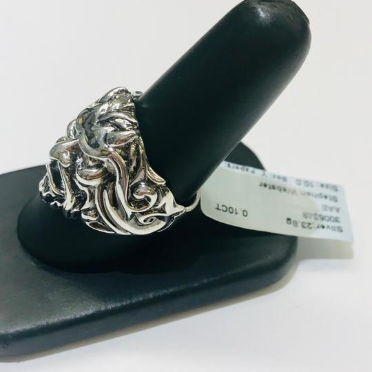 Stephen Webster NEVER WORN!! Stephen Webster Two Diamond Japanese Warrior Mask Ring Sterling Silver 23.8 grams Two Diamonds weighing 0.10 carat total weight Size 10.75 Can be sized!!! 100% Authentic Guaranteed!! Comes with Original Stephen Webster Pouch!! Image 2