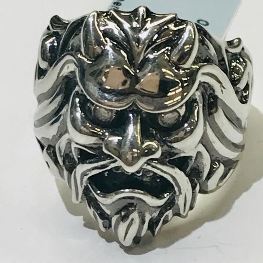Stephen Webster NEVER WORN!! Stephen Webster Two Diamond Japanese Warrior Mask Ring Sterling Silver 23.8 grams Two Diamonds weighing 0.10 carat total weight Size 10.75 Can be sized!!! 100% Authentic Guaranteed!! Comes with Original Stephen Webster Pouch!! Image 3