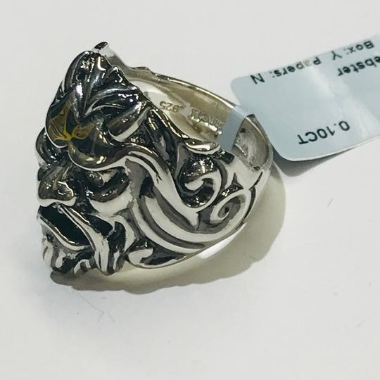Stephen Webster NEVER WORN!! Stephen Webster Two Diamond Japanese Warrior Mask Ring Sterling Silver 23.8 grams Two Diamonds weighing 0.10 carat total weight Size 10.75 Can be sized!!! 100% Authentic Guaranteed!! Comes with Original Stephen Webster Pouch!! Image 4