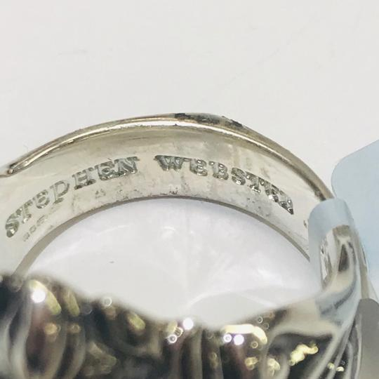 Stephen Webster NEVER WORN!! Stephen Webster Two Diamond Japanese Warrior Mask Ring Sterling Silver 23.8 grams Two Diamonds weighing 0.10 carat total weight Size 10.75 Can be sized!!! 100% Authentic Guaranteed!! Comes with Original Stephen Webster Pouch!! Image 6