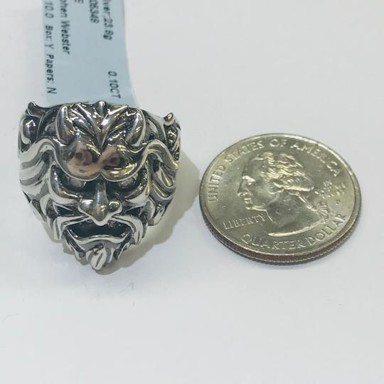 Stephen Webster NEVER WORN!! Stephen Webster Two Diamond Japanese Warrior Mask Ring Sterling Silver 23.8 grams Two Diamonds weighing 0.10 carat total weight Size 10.75 Can be sized!!! 100% Authentic Guaranteed!! Comes with Original Stephen Webster Pouch!! Image 8