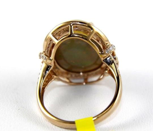 Other Oval Fire Opal Solitaire Ring w/Diamond Halo 14k RG 9.75Ct Image 6