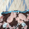 Trina Turk Top Brown Coral and Turquoise Image 3