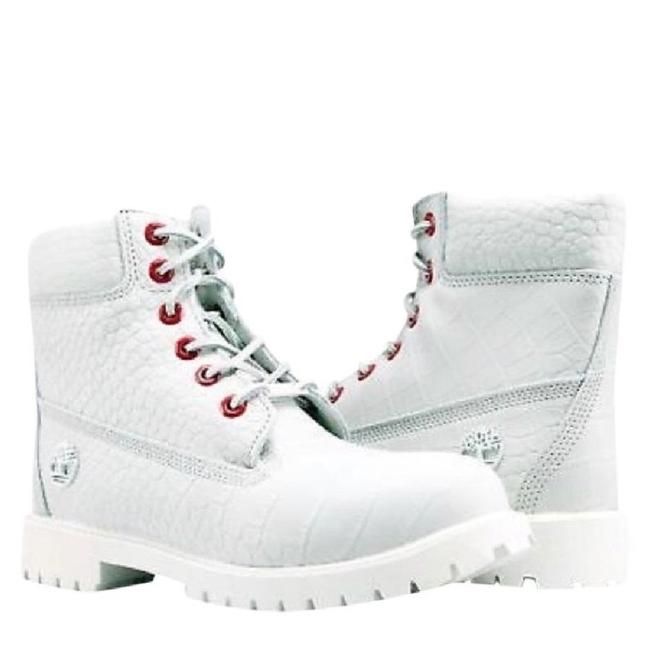 Item - White Women's and Red Special Edition Serpent 6-inch Boots/Booties Size US 8 Regular (M, B)