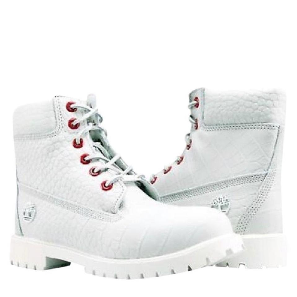 Timberland White Women s and Red Special Edition Serpent 6-inch Boots  Booties e44d6c0ca2