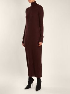 Brown Maxi Dress by Raey Ribbed Cashmere Long Sleeves Sweater Turtleneck