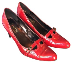 Ecco Red Patent Leather Pumps