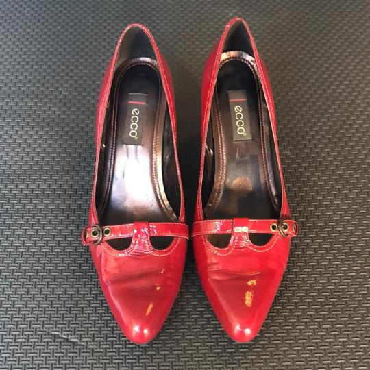 Ecco Red Patent Leather Pumps Image 1