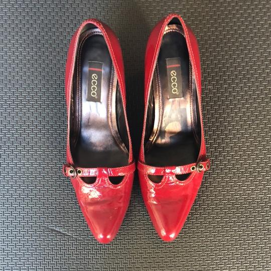 Ecco Red Patent Leather Pumps Image 2