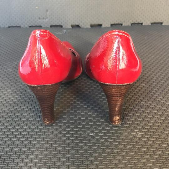 Ecco Red Patent Leather Pumps Image 3