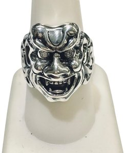 Stephen Webster NEVER WORN!! Stephen Webster Two Diamond Japanese Warrior Mask Ring Sterling Silver 23.8 grams Two Diamonds weighing 0.10 carat total weight Size 10 Can be sized!!! 100% Authentic Guaranteed!! Comes with Original Stephen Webster Pouch!!