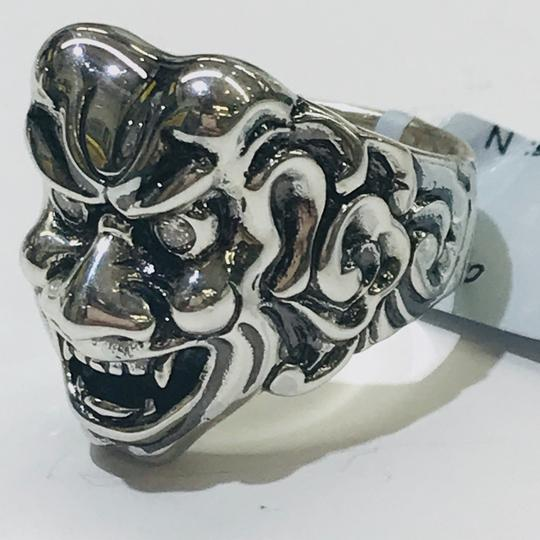 Stephen Webster NEVER WORN!! Stephen Webster Two Diamond Japanese Warrior Mask Ring Sterling Silver 23.8 grams Two Diamonds weighing 0.10 carat total weight Size 10 Can be sized!!! 100% Authentic Guaranteed!! Comes with Original Stephen Webster Pouch!! Image 6