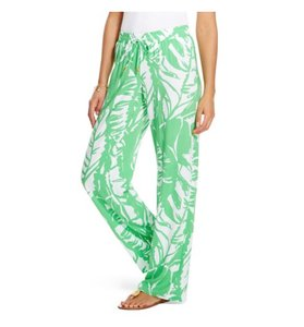Lilly Pulitzer For Target Women's Palazzo Small S Green White Relaxed Pants Boom Boom