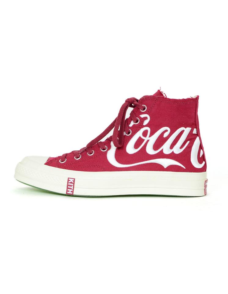 499a68edca3 Converse Sneakers High Top Kith Collaboration Coca-cola Crimson Red   White  Athletic Image 0 ...