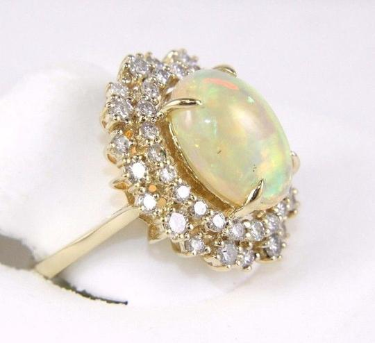 Other Oval Cut Opal Solitaire Ring w/Diamond Halo 14k YG 5.42Ct Image 1
