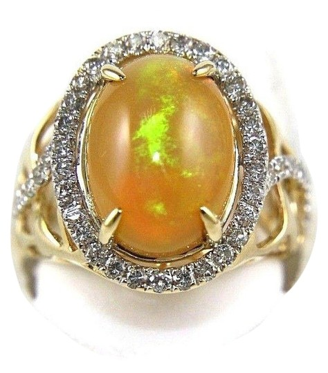 Preload https://img-static.tradesy.com/item/24214090/orange-and-gold-oval-fire-opal-diamond-halo-solitaire-14k-yg-454ct-ring-0-1-540-540.jpg