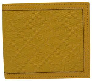 Gucci Gucci Hillary Lux Yellow Diamante Leather Bifold Wallet 225826 7011