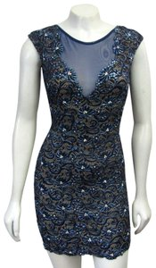 Baccio Couture Handmade Crystals Floral Dress