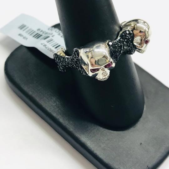 Stephen Webster NEVER WORN!! Stephen Webster Skull & Bones Silver Four Ruby with Black Sapphires Ring Sterling Silver Four Rubies weighing 0.26 carat total weight Black Sapphires weighing 2.80 carat total weight Size 9.25 100% Authentic Guaranteed!! Comes with Original Stephen Webster Pouch!!! Image 2