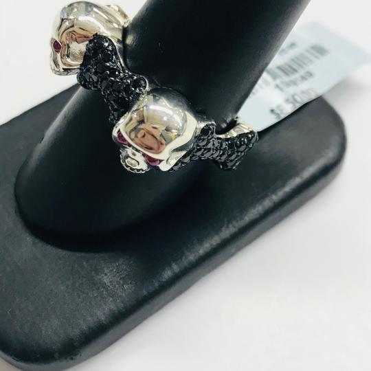 Stephen Webster NEVER WORN!! Stephen Webster Skull & Bones Silver Four Ruby with Black Sapphires Ring Sterling Silver Four Rubies weighing 0.26 carat total weight Black Sapphires weighing 2.80 carat total weight Size 9.25 100% Authentic Guaranteed!! Comes with Original Stephen Webster Pouch!!! Image 3