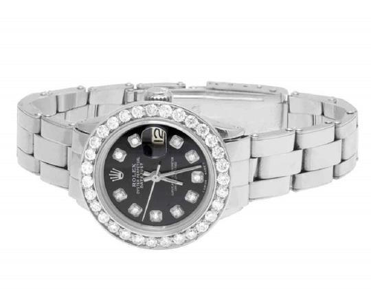 Rolex Ladies 26MM Datejust Oyster Black Dial Diamond 2.5 Ct Image 3