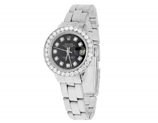 Rolex Ladies 26MM Datejust Oyster Black Dial Diamond 2.5 Ct Image 6