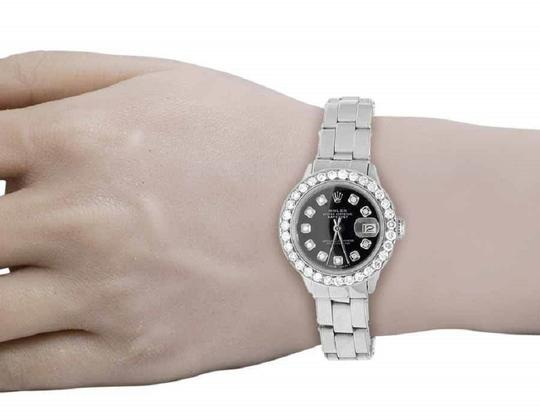 Rolex Ladies 26MM Datejust Oyster Black Dial Diamond 2.5 Ct Image 7