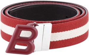 c3275be4 Bally Bally Men's Red and White Striped Belt