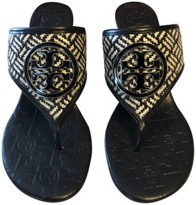 Tory Burch New Black & White Sandals