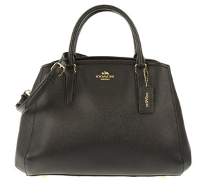 Coach Leather Margo Satchel in Black