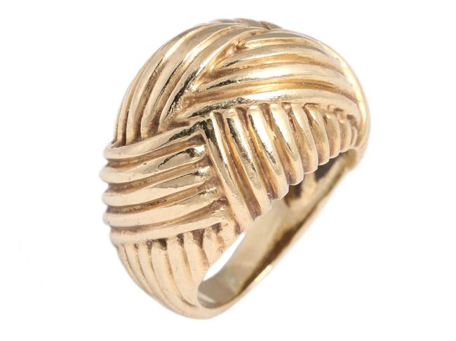 Gold 14k Yellow Basket Weave Dome Ring Gold 14k Yellow Basket Weave Dome Ring Image 1