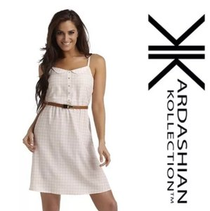 Kardashian Kollection short dress pink and white on Tradesy