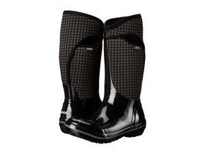 Bogs Black Houndstooth Boots