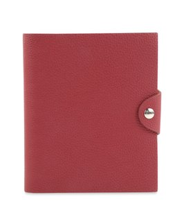 Hermès Rubis Leather Ulysse Notebook Cover PM