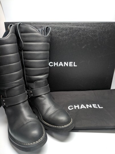 Chanel Dallas Star Black Boots Image 5
