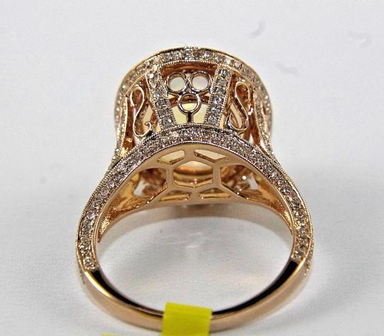 Other Oval Opal Gemstone & Diamond Solitaire Ring 14k Rose Gold 5.61Ct Image 2