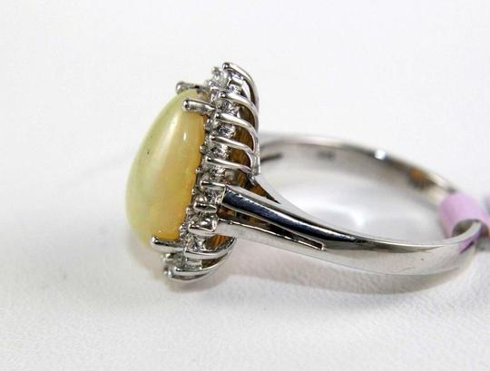 Other Pear Cut Fire Opal Cocktail Ring w/Diamond Halo 14k WG 3.05Ct Image 5