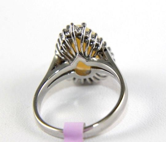 Other Pear Cut Fire Opal Cocktail Ring w/Diamond Halo 14k WG 3.05Ct Image 6