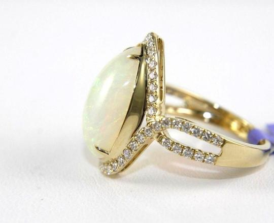 Other Pear Cut Fire Opal & Diamond Cocktail Infinity Ring 14k YG 4.50Ct Image 1